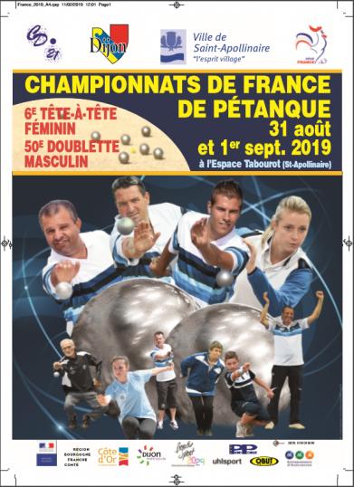 Calendrier Championnat De France Petanque 2019.Championnat De France 2019 St Apollinaire